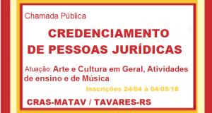ARTE E CULTURA EM GERAL -CREDENCIAMENTO Nº001