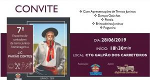 7º Encontro de Cantadores de Terno Junino-Homenagem a J.C. Paixão Cortes  Encontro de Ternos.