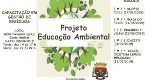 Projeto de Educação Ambiental: Prefeitura Municipal de Tavares realizará capacitação em Gestão de Resíduos