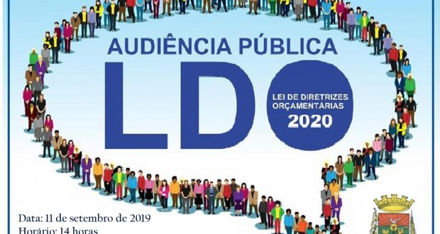 AUDIÊNCIA PÚBLICA (LEI DE DIRETRIZES ORÇAMENTÁRIAS 2020)