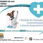 Prefeitura Municipal de Tavares encaminha ações do I Mutirão de Castração, Conscientização e Guarda responsável de animais.