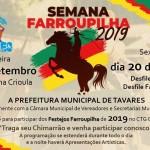 Prefeitura de Tavares convida para as Festividades da Semana Farroupilha