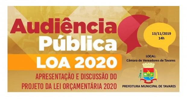 Audiência Pública LOA 2020