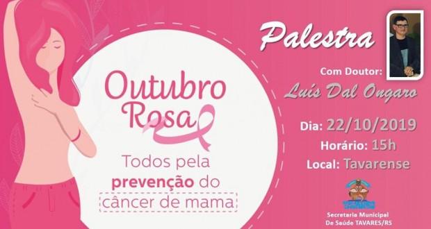 Outubro Rosa em Tavares  Secretaria Municipal de Saúde(Atividades da Campanha de prevenção do Câncer de Mama)