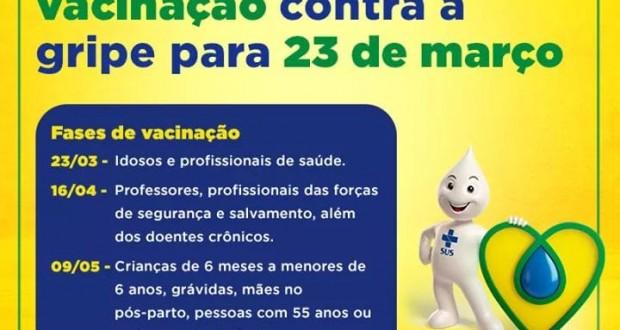 IMPORTANTE!!! CALENDÁRIO DE VACINAÇÕES. Atenção para datas e idades.