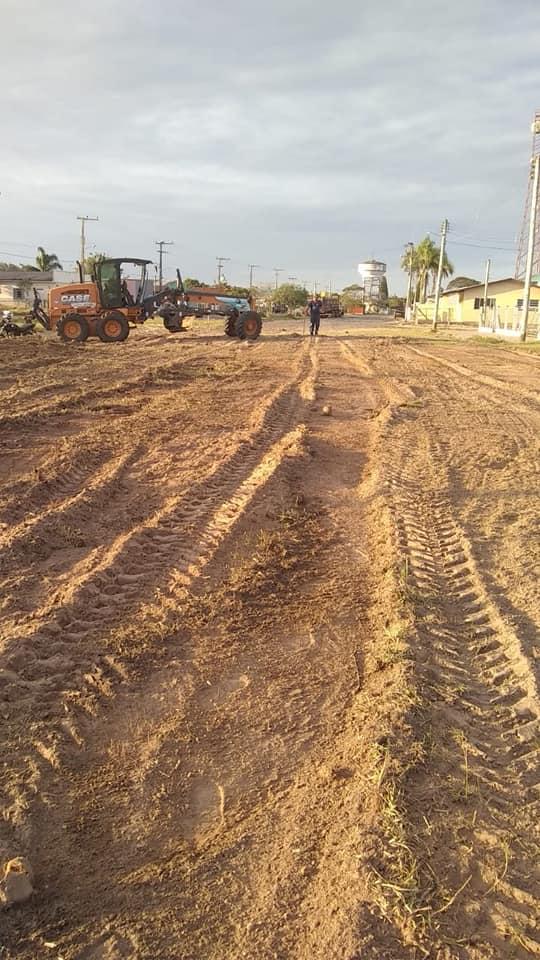 Prefeitura de Tavares da início à obra de pavimentação na Rua 11 de abril, sentido Sul.